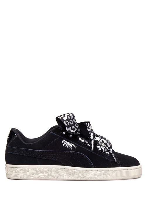 Suede Heart Ath Luxe Siyah Kız Çocuk Sneaker