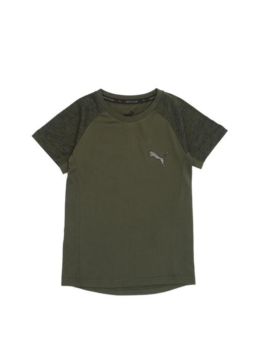 Evostripe Haki Kol Detaylı Erkek Çocuk T-shirt