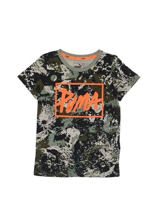 Style Graphic Yeşil Baskılı Erkek ÇocukT-shirt