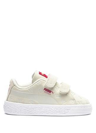 Puma Unisex Bebek Justice League Beyaz Süet Sneaker 9 UK Ürün Resmi