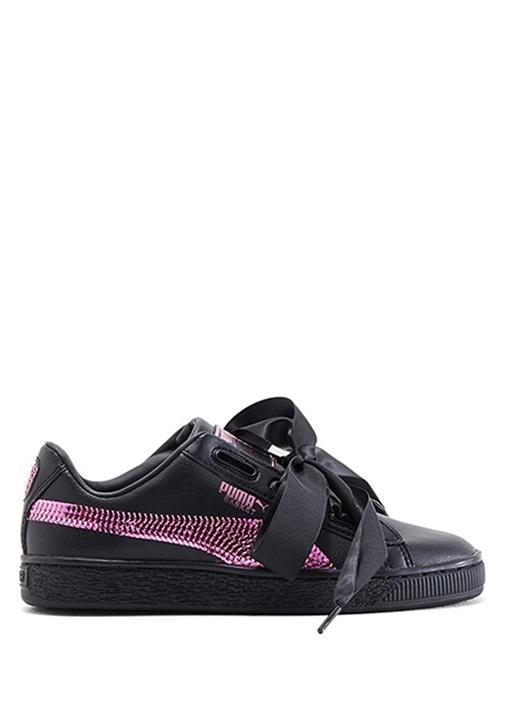 Basket Heart Bling Siyah Pembe Kız Çocuk Sneaker
