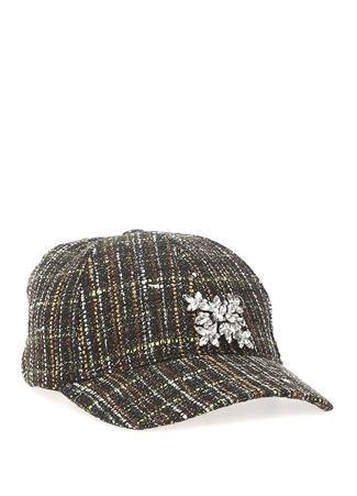 Beymen Club Kadın Yeşil Taş Detaylı Tweed Şapka EU