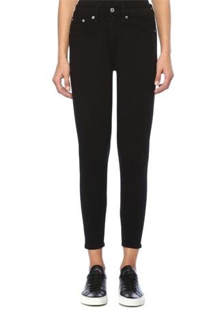 Rag&Bone Denim Kadın Siyah Yüksek Bel Crop Skinny Jean Pantolon 32 US