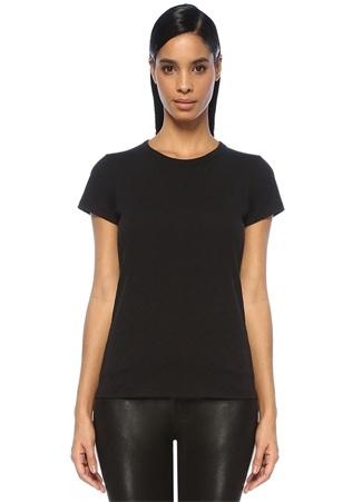 Rag&Bone Denim Kadın Siyah Bisiklet Yaka Basic T-shirt L EU