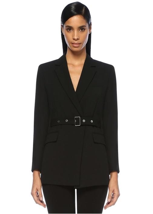 Mo&co Siyah Kelebek Yaka Kemerli Yün Blazer Ceket – 1399.0 TL