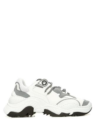 N2 Kadın Beyaz Siyah Kalın Tabanlı Sneaker 39 EU