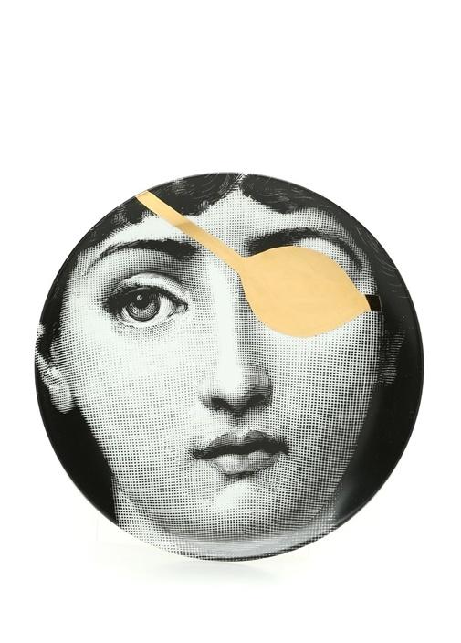 No 81 Yüz Baskılı Porselen Dekoratif Tabak