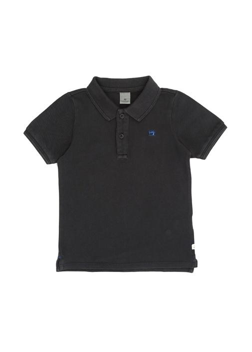 Antrasit Polo Yaka Erkek Çocuk T-shirt