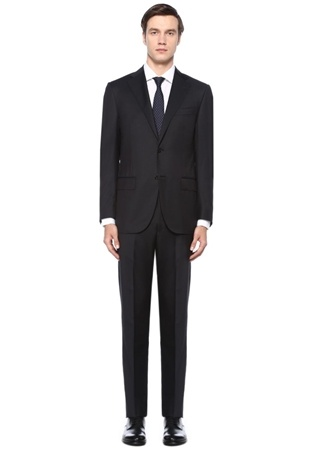 Drop 7 Siyah Yün Takım Elbise