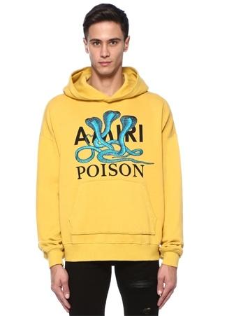 Amiri Erkek Posion Sarı Kapüşonlu Yılan Baskılı Sweatshirt S Ürün Resmi
