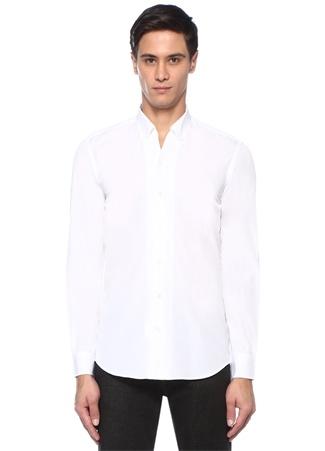 Erkek Beyaz İngiliz Yaka Gömlek XXL EU