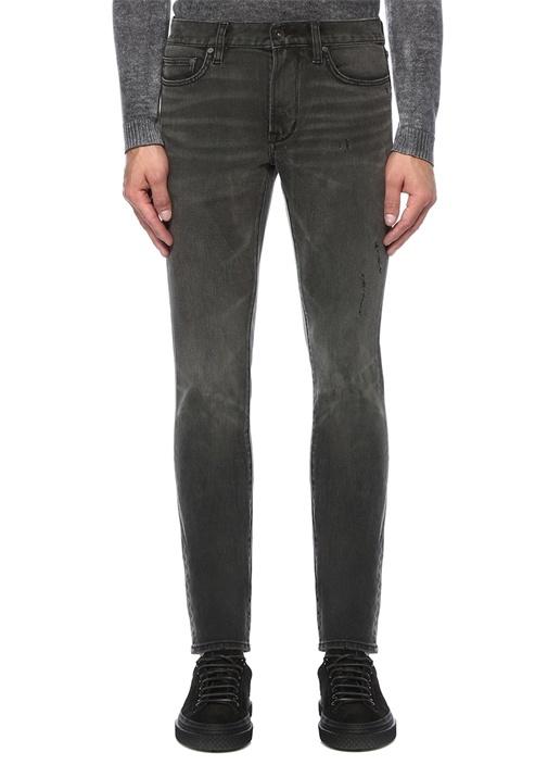 Wight Gri Normal Bel Skinny Jean Pantolon