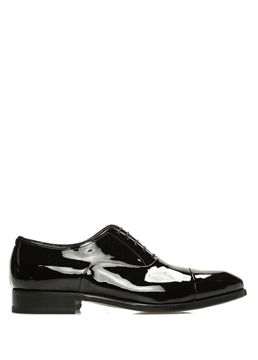 Siyah Bağcıklı Erkek Deri Smokin Ayakkabısı