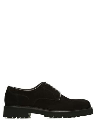 Siyah Yuvarlak Burun Erkek Süet Ayakkabı