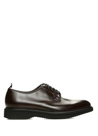 Kahverengi Yuvarlak Burun Erkek Deri Ayakkabı