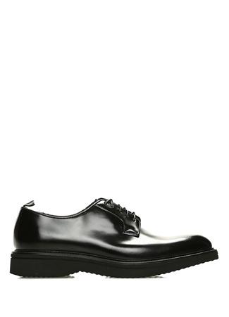 Siyah Yuvarlak Burun Erkek Deri Ayakkabı