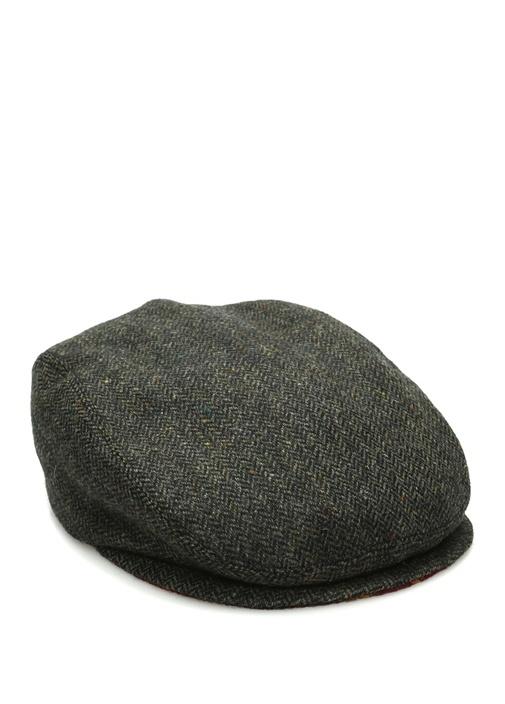 Kahverengi Zikzak Dokulu Erkek Yün Şapka