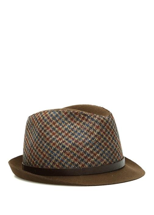 Kahverengi Desenli Erkek Yün Şapka