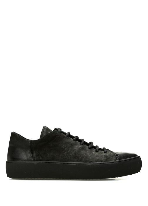 Beni Siyah Erkek Deri Sneaker