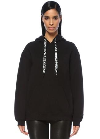 Proenza Schouler Kadın Siyah Kapüşonlu Basic Sweatshirt M