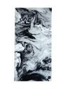 Stone Siyah Mermer Desenli Kadın Plaj Havlusu