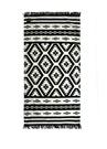 Taos Siyah Geometrik Desenli Kadın PlajHavlusu