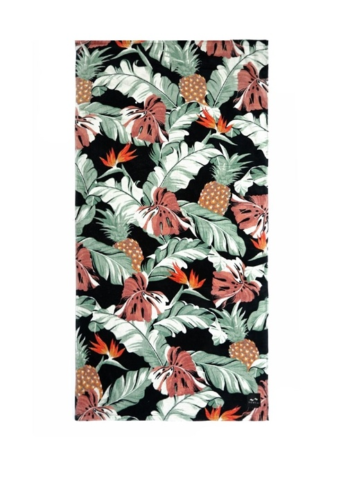 Makai Çiçek Desenli Ananaslı Kadın PlajHavlusu
