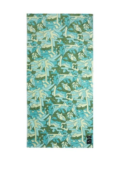 Hunter Palmiye Desenli Kadın Plaj Havlusu