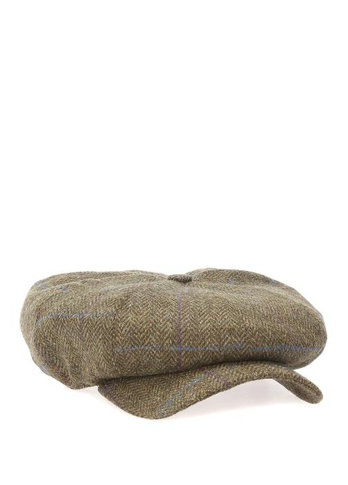 Ashiestiel Yeşil Zikzak Desenli Erkek Yün Şapka