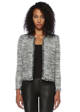 IRO Kadın Unplug Silver Tweed Ceket Gri 34 IT