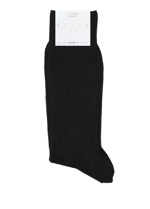 Siyah Ribli Erkek Kaşmir Çorap