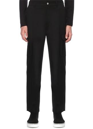 Siyah 6 Cepli Yün Pantolon