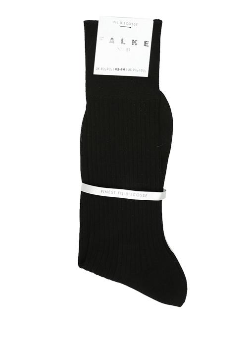 Siyah Ribli Erkek Çorap