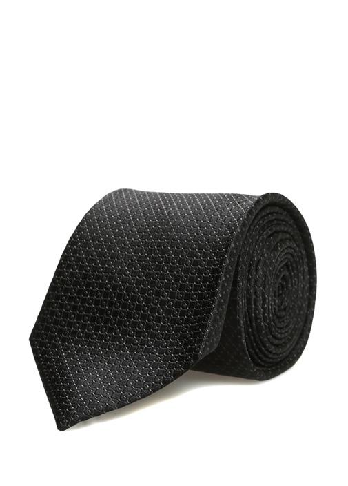 Siyah Dokulu Erkek İpek Kravat