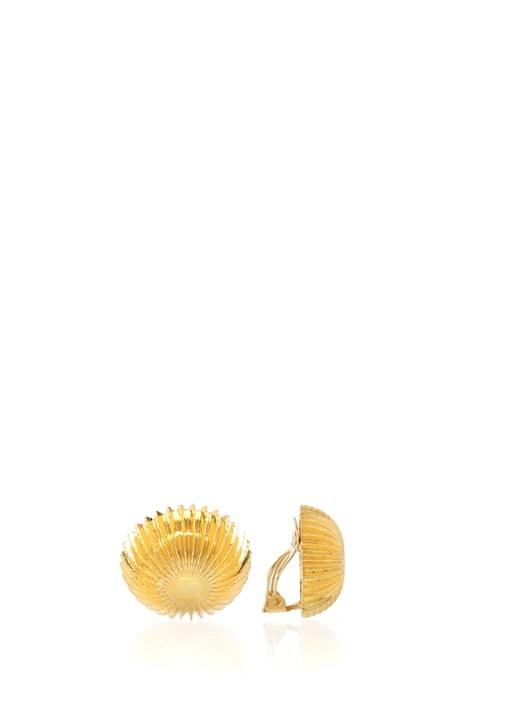 Gold Daire Formlu Kadın Küpe