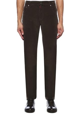 Erkek Kahverengi Normal Bel Boru Paça Pantolon 42 US