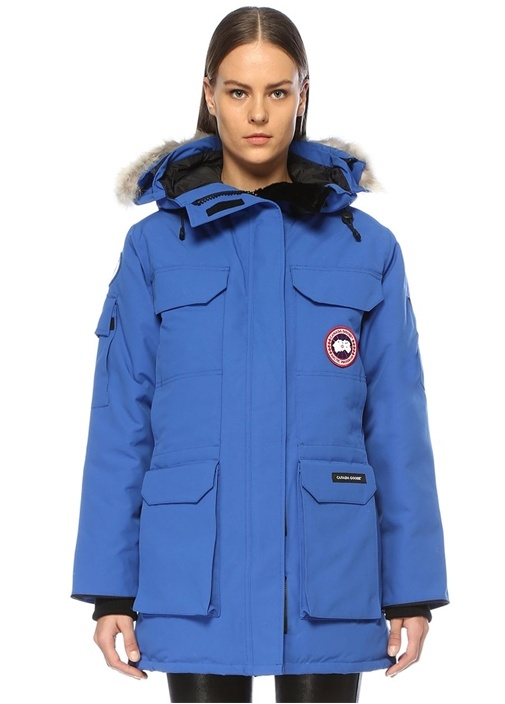 PBI Expedition Mavi Kapüşonlu Parka