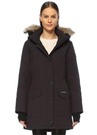 Canada Goose Kadın Trillium Siyah Kapüşonlu Parka XXS EU