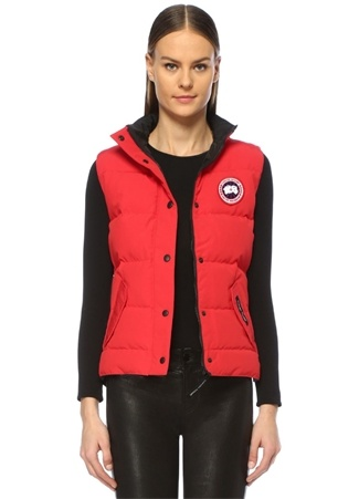 Canada Goose Kadın Freestyle Vest Kırmızı Dik Yaka Puff Yelek M EU