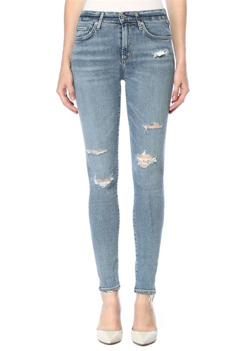 Agolde Sophie Yüksek Bel Yıpratmalı Skinny Jean Pantolon – 479.0 TL