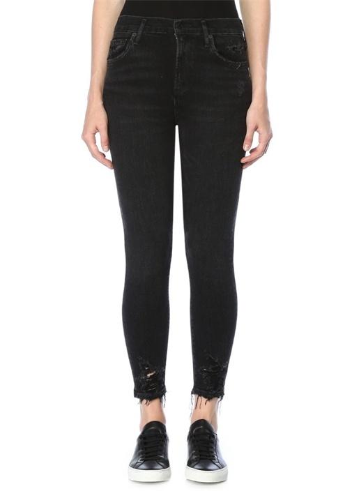 Agolde Sophie Siyah Yüksek Bel Skinny Crop Jean Pantolon – 699.0 TL