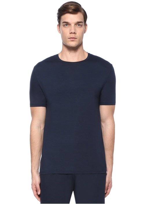 Lacivert Basic T-shirt