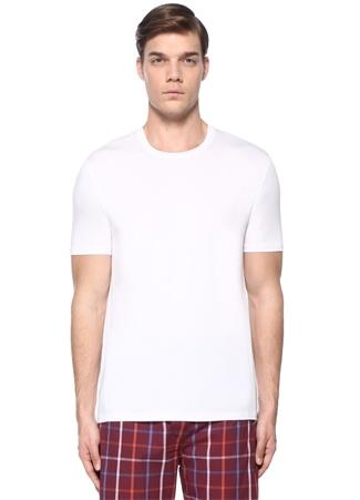 Derek Rose Erkek Beyaz Bisiklet Yaka Basic T-shirt L EU male