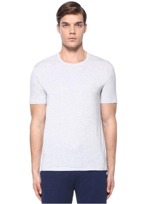Gri Bisiklet Yaka T-shirt