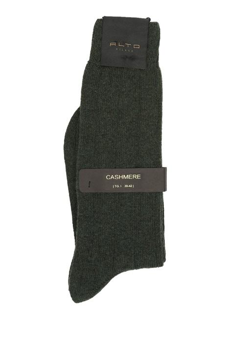 Yeşil Erkek Yün Çorap