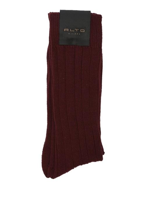 Bordo Ribli Erkek Çorap