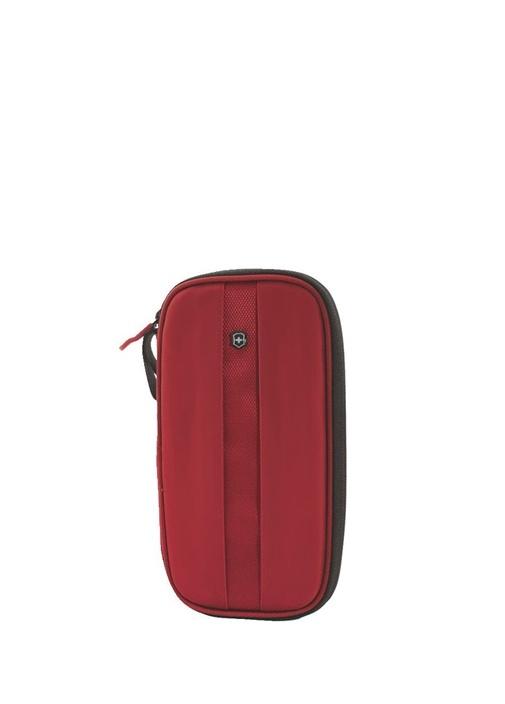 Kırmızı Rfid Korumalı Erkek Seyahat Cüzdanı