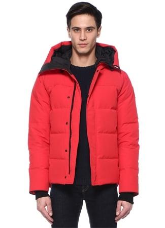 Canada Goose Erkek Macmillan Slim Fit Kırmızı Kapüşonlu Logolu Mont M EU