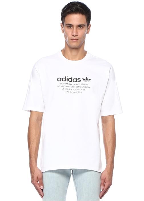Originals Beyaz Logo Baskılı Basic T-shirt
