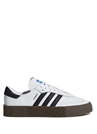 Adidas Kadın Sambarose Beyaz Siyah Sneaker 6 UK